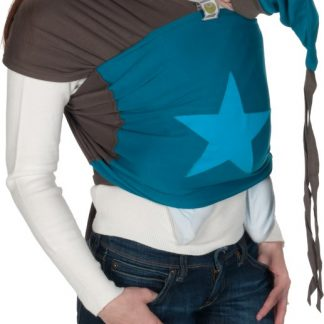 ByKay - Draagdoek - Stretchy Wrap Deluxe - Bruin/ Petrol/Ster Turquoise - Medium
