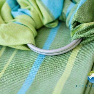 Little Frog Ringsling Bamboo Turquoise Maat M (rond de 2m lengte)