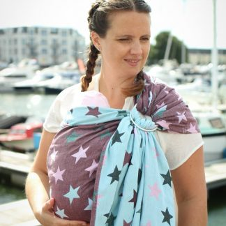 Yaro Stars Ultra Black Rose Mint Ring Sling