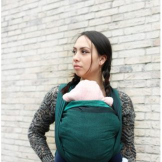 Yaro Newborn Emerald Black -- Ring Sling