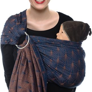 Babylonia baby carriers - BB-SLING - Ornate blue - gathered